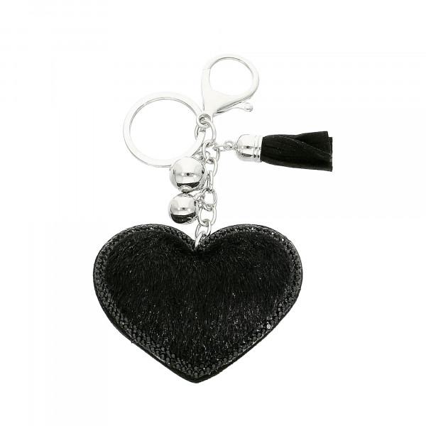 """Taschen-Anhänger schwarz """"Herz"""""""