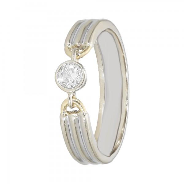 RING 750 bicolor mit Diamant ca.0,15ct