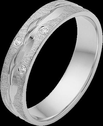 Trauring Silber 925 Gr.50 mit Zirkonia