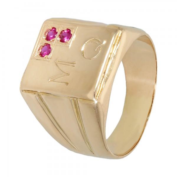 Ring 750 Gelbgold mit Rubin