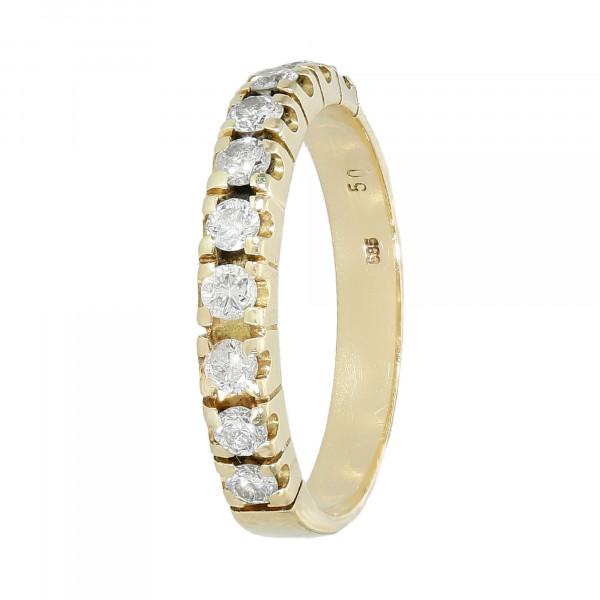 Alliance Ring 585 Gelbgold mit 10 Brillanten ca. 0,50 ct.