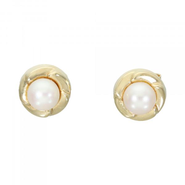 Ohrstecker 585 Gelbgold mit Perle