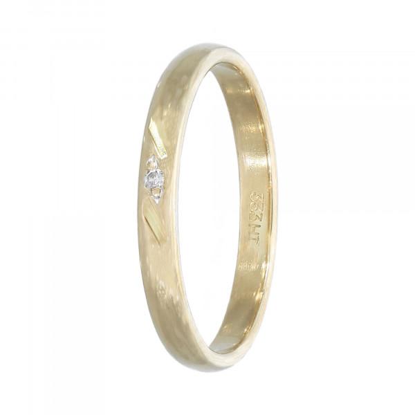 Ring 333 Gelbgold mit Brillant 0,01ct. Kinderring