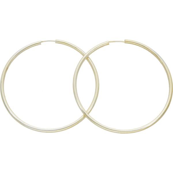 Paar Creolen 925 Silber leicht vergoldet ø 6,0 cm