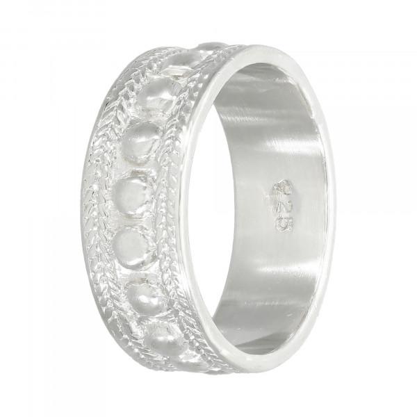 Ring 925 Silber Bandring ziseliert