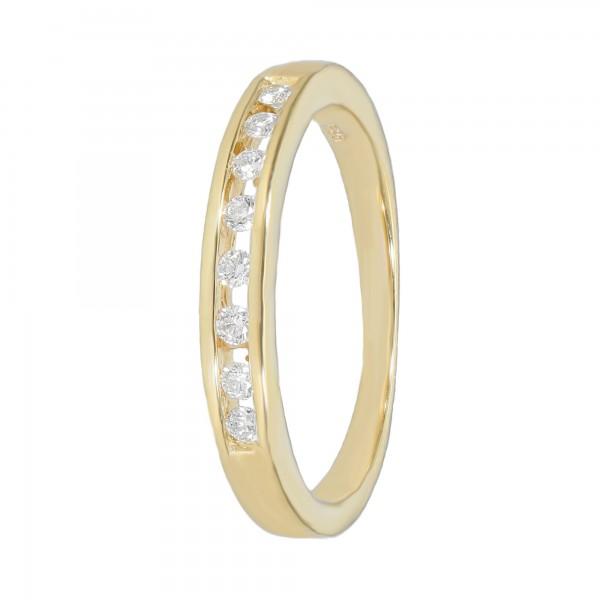 Ring 585 Gelbgold mit Diamanten