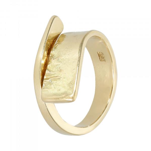 Ring 585 Gelbgold offen gehämmert