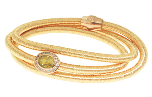 Kette Kupfer/Messing gold mit Zirkonia