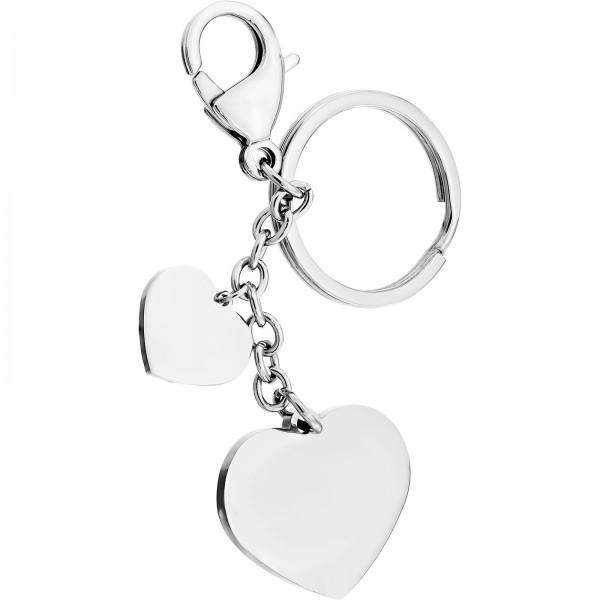 Schlüsselanhänger Edelstahl Herz