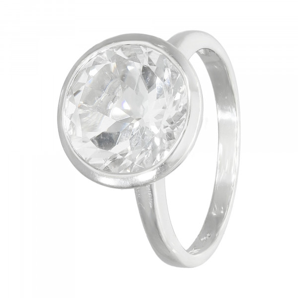 Ring Silber 925 mit weißem Topas