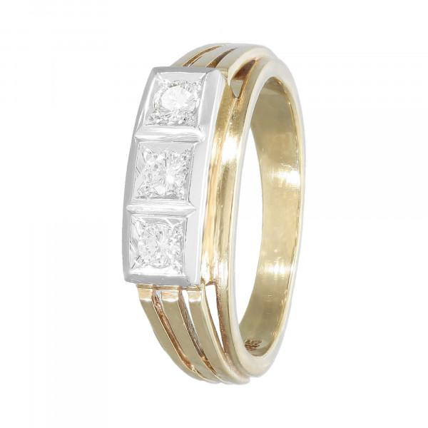 Ring 585 bicolor mit Brillanten ca. 0,21ct.