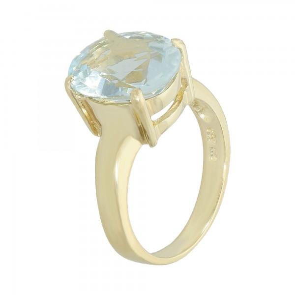 Ring 585 Gelbgold mit Aquamarin ca.3,79 ct