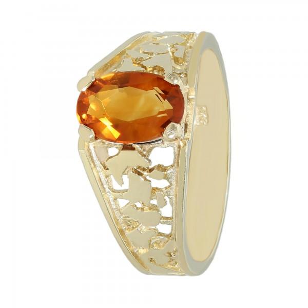 Ring 333 Gelbgold mit Citrin