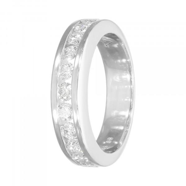 Alliance-Ring 585 Weißgold mit 11 Brillanten ca. 0,89 ct.