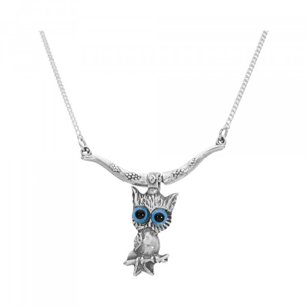 Collier Silber 925 Eule