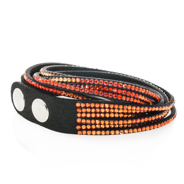 Armband Textil 6 reihig rot