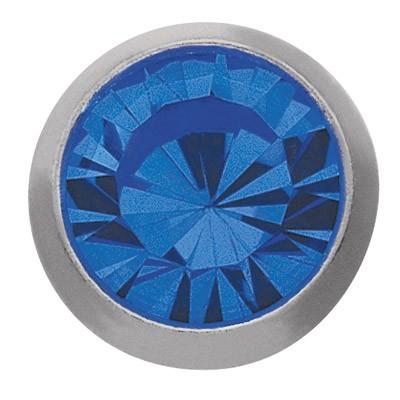 Ohrstecker Titan Zirkonia blau 3 mm