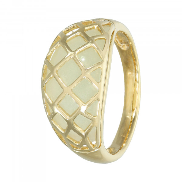 Ring 925 Silber vergoldet mit hellen Quarz