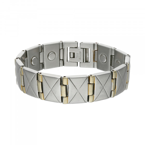 Armband Edelstahl bicolor 17 cm