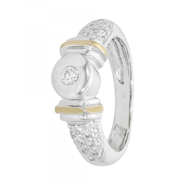 Ring bicolor 18Karat mit Brillanten ca. 0,38 ct.