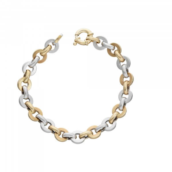 Armband 585 bicolor 18 cm