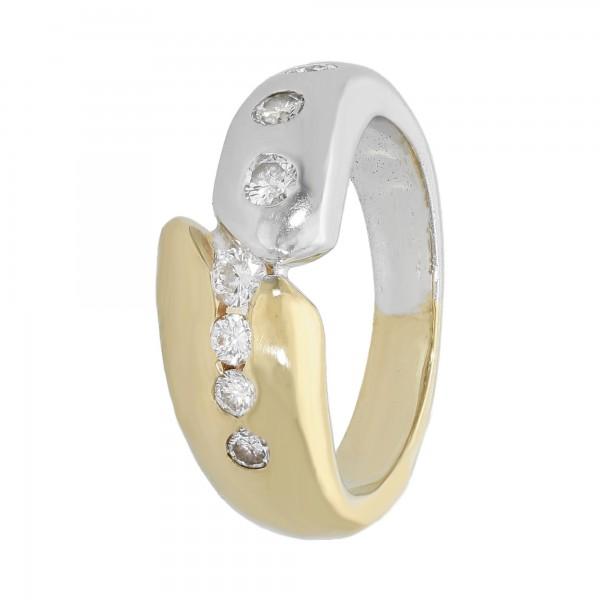 Ring bicolor 585 mit Brillanten ca. 0,57 ct.