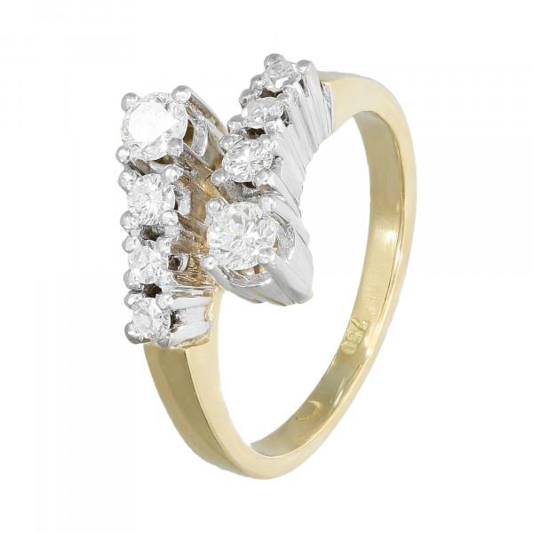 Ring 750 bicolor mit Brillanten ca.0,54ct