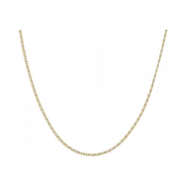 Kette 14 Karat Gelbgold Rosen 51 cm
