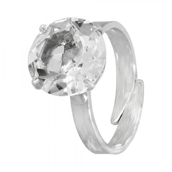Ring 835 Silber mit Bergkristall