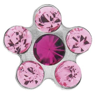 Ohrstecker Chirurgenstahl Blümchen rosa-pink