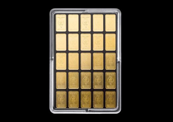 UnityBar 25 x 1,0 Gramm Goldbarren