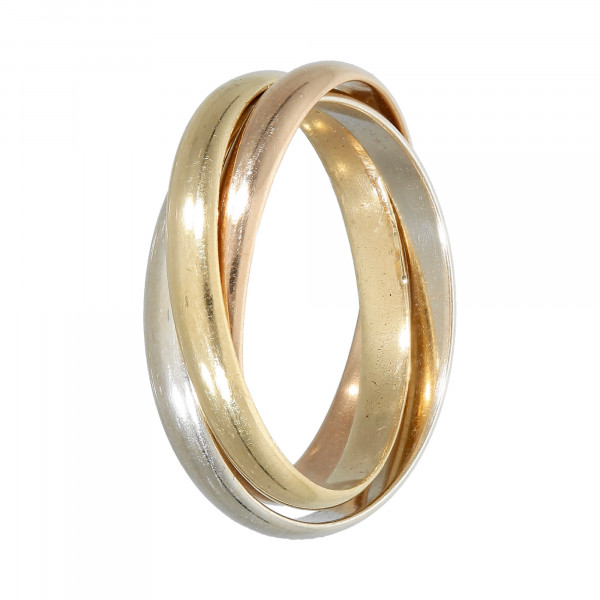 Ring 750 tricolor (3 Ringe verbunden)