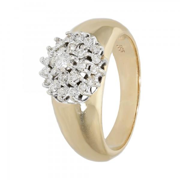Ring 585 bicolor mit Diamanten ca.0,31 ct.