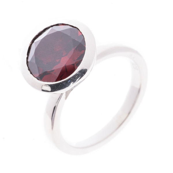 Ring Silber 925 mit 1 Granat