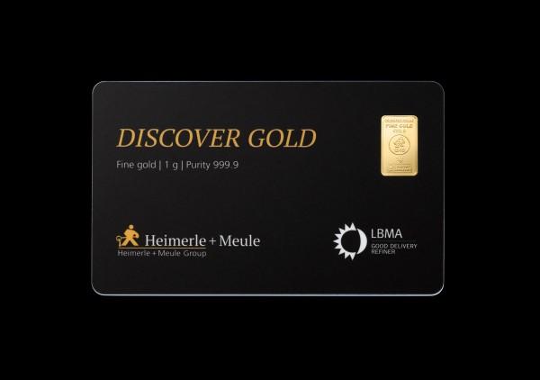 FineCard Discover Goldbarren 1 x 0,5 Gramm