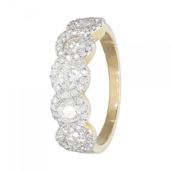 Ring 18 Karat bicolor mit Brillanten ca. 1,58 ct