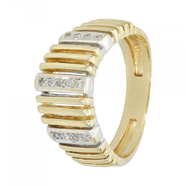 Ring 585 Gelbgold Streben mit Brillanten