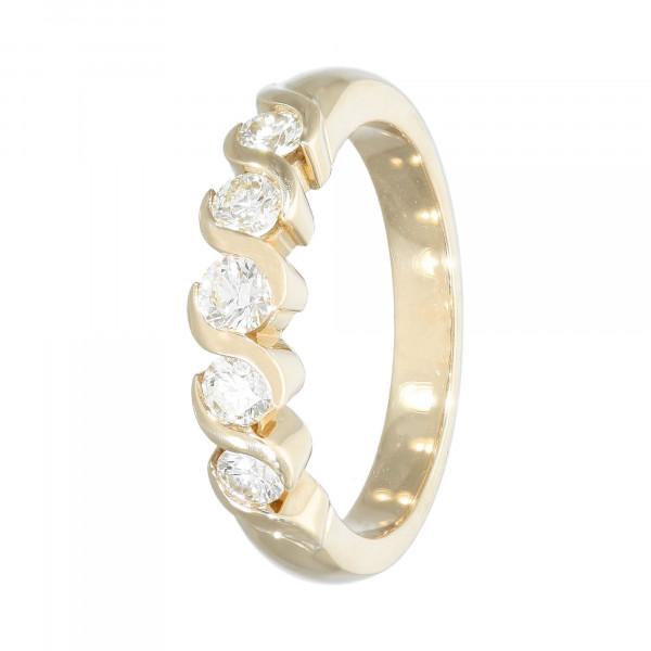 Ring 585 Gelbgold mit 5 Brillanten ca.0,70ct.