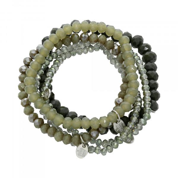 Armband Kristall olivgrün 5 teilig