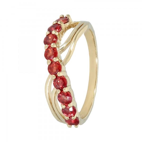 Ring 375 Gelbgold mit Granaten