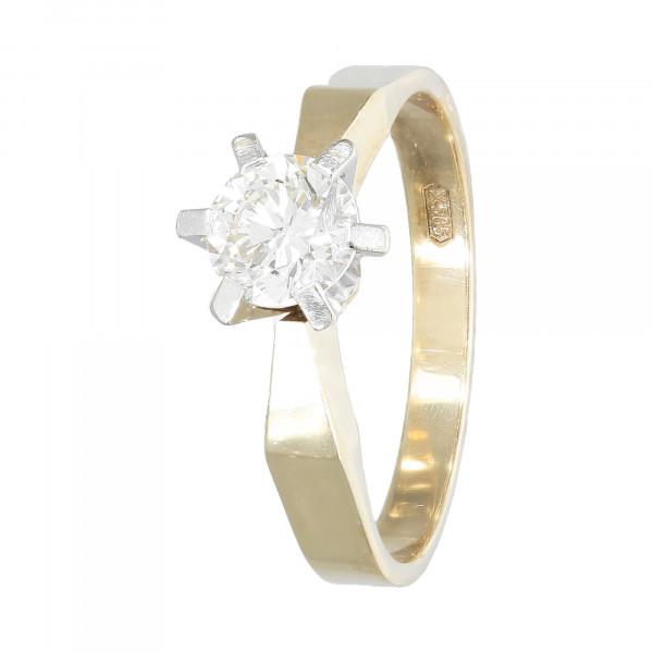 Ring 585 bicolor mit Brillant ca. 0,77 ct.
