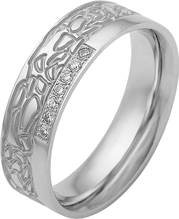 Trauring Silber 925 mit Zirkonia Gr.58