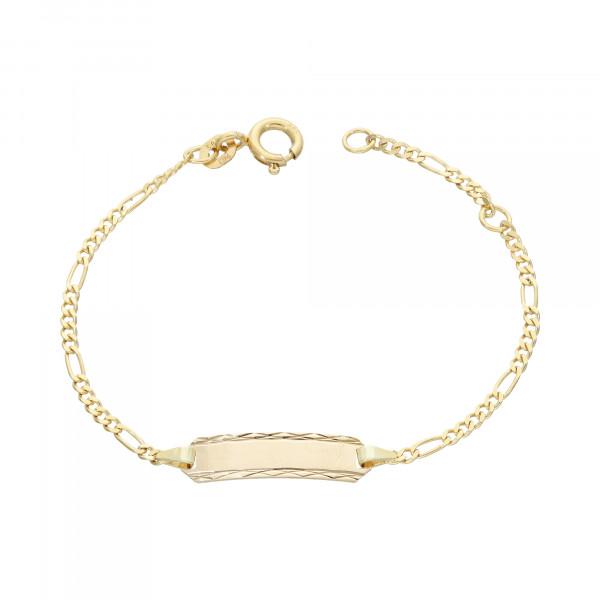 ID Armband 585 Gelbgold 12 cm bis 14 cm