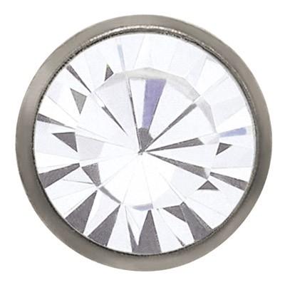 Ohrstecker Titan Zirkonia weiß 3 mm