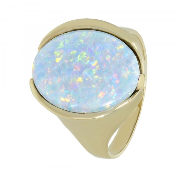 Ring 333 Gelbgold mit Opal Doublette