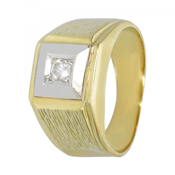 Ring 585 bicolor mit 1 Brillant