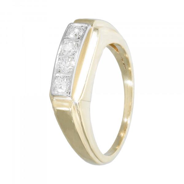 Ring 585 bicolor mit Brillanten ca.0,40 ct.
