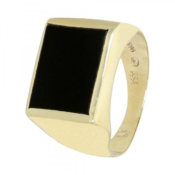 Ring 333 Gelbgold mit Onyx