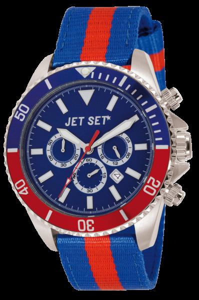 "Armbanduhr ""Jet Set"" Speeedway blau / rot Nylon J212 03-17"