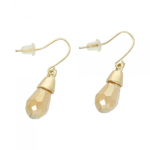 Ohrhänger vergoldet Tropfen Kristallen